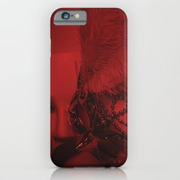 Cinematography Art Masks in a Red Background  iPhone Case