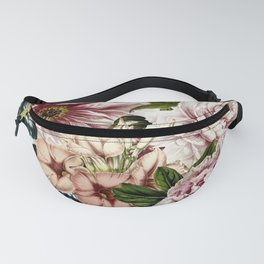 Vintage Peony and Ipomea Pattern - Smelling Dreams Fanny Pack