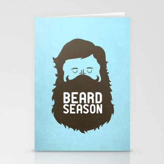 Beard Season Stationery Cards