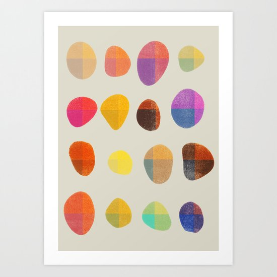 Painted Pebbles 4 Art Print