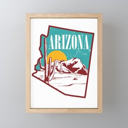 Arizona America USA Framed Mini Art Print