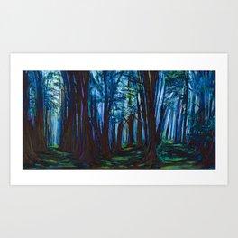 Forest Edge Blue Art Print