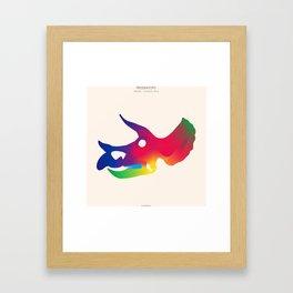 Triceratops in Colour Framed Art Print