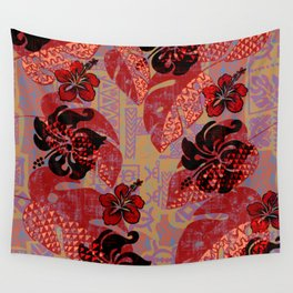 On Fire Kona Tropical Floral Wall Tapestry