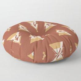 Geometric Tree Pattern Floor Pillow