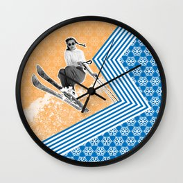 Ski Like a Girl Wall Clock