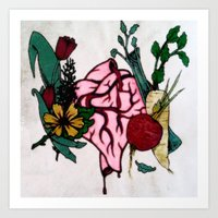 Heart Veg Art Print