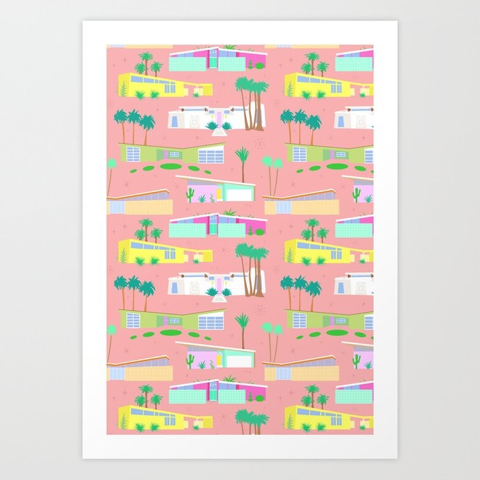 Palm Springs Houses Art Print