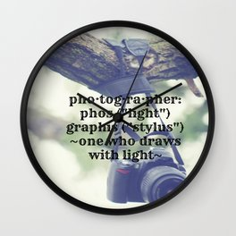 Photographer Definition Wall Clock