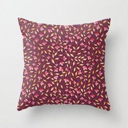 Botanical: Maroon Vine Throw Pillow