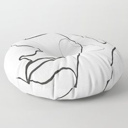 Abstract Face Floor Pillow