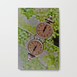 Stop the time stop the race Metal Print