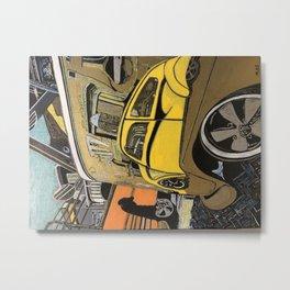 Bus and Bug Reflection Metal Print