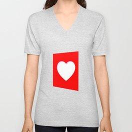 Valentine Heart Background Unisex V-Neck