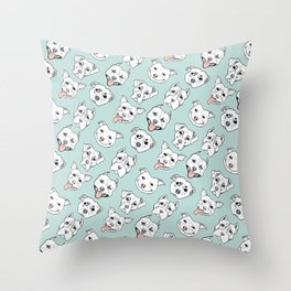 Pittie Pittie Please! 3 Throw Pillow
