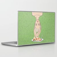 pasta Laptop & iPad Skins featuring Italian pasta girl by mZwonko