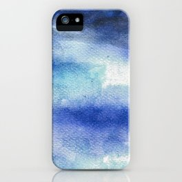Blue Watercolor iPhone Case