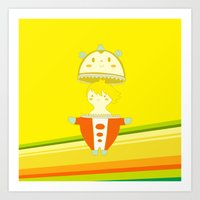 persona 4 Art Prints featuring Teddie - Persona 4 by Jarvis Glasses