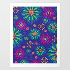 Psychoflower Violet Art Print