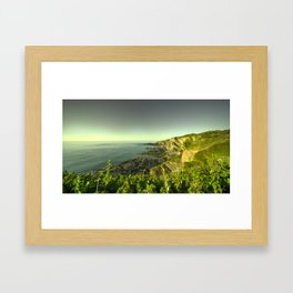 North Devon Coastscape Framed Art Print
