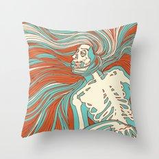 Skeleton Girl Throw Pillow