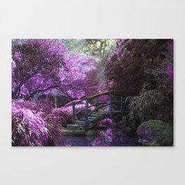 Monet's Garden (Color) Canvas Print