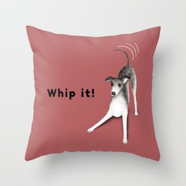 Whip it! (Blush Red) Throw Pillow