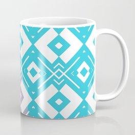 Blue purple white geometric shapes pattern Coffee Mug