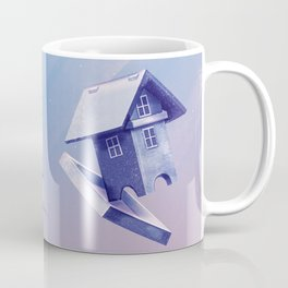 Freezing Bird...house Coffee Mug
