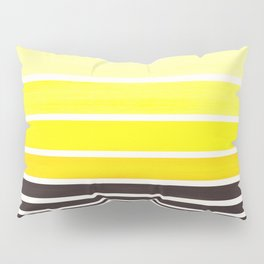 Yellow Minimalist Watercolor Mid Century Staggered Stripes Rothko Color Block Geometric Art Pillow Sham
