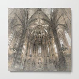 Cathedral in Metal Print