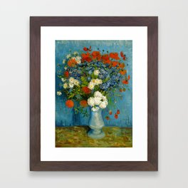 Vincent Van Gogh Vase With Cornflowers And Poppies Framed Art Print