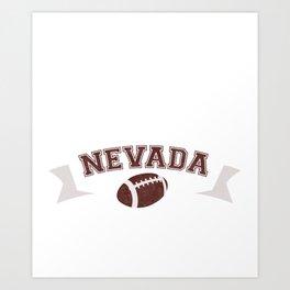 Just a Baller from Nevada Football Player Art Print
