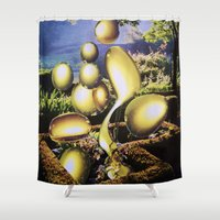 oil Shower Curtains featuring Oil by John Turck