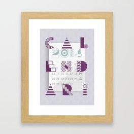 Calendari 2014 Framed Art Print