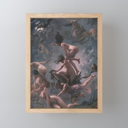 WITCHES GOING TO THEIR SABBATH / THE DEPARTURE OF THE WITCHES - LUIS RICARDO FALERO Framed Mini Art Print