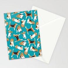 beagle scatter blue Stationery Cards