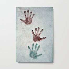 Three Hands Metal Print