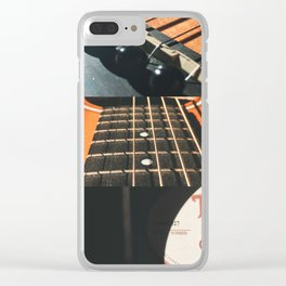 This Old Guitar Collage Clear iPhone Case