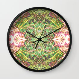 Faerie Fire Tracers Wall Clock