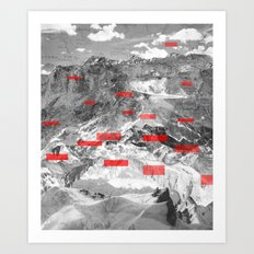 MountainMix 1.2 Art Print