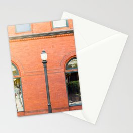 Street photography brick building afternoon I Stationery Cards