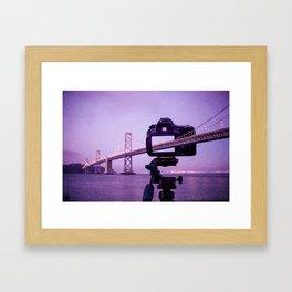 Bay Bridge Capture Framed Art Print