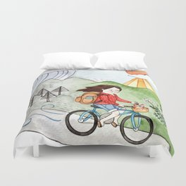 Hang In There Duvet Cover