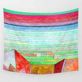 Paul Klee View into Fertile Country Wall Tapestry