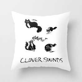 Clover Sounds | Lo-Fi Cat Frustration Throw Pillow