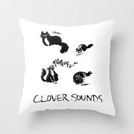 Clover Sounds | Lo-Fi Cat Frustration Throw Pillow