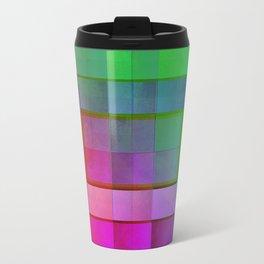 Aperture #1 Fractal Pleat Texture Colorful Design Travel Mug