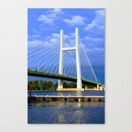 Bridge in Burlington, Iowa Canvas Print