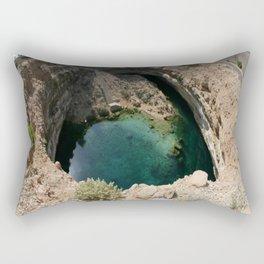 Bimmah Sink hole (Hawaiyat Najm) in Dibba Al Bay Ah, Oman Rectangular Pillow